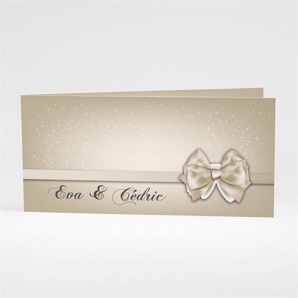 Faire-part mariage Petit Noeud doré réf.N43118