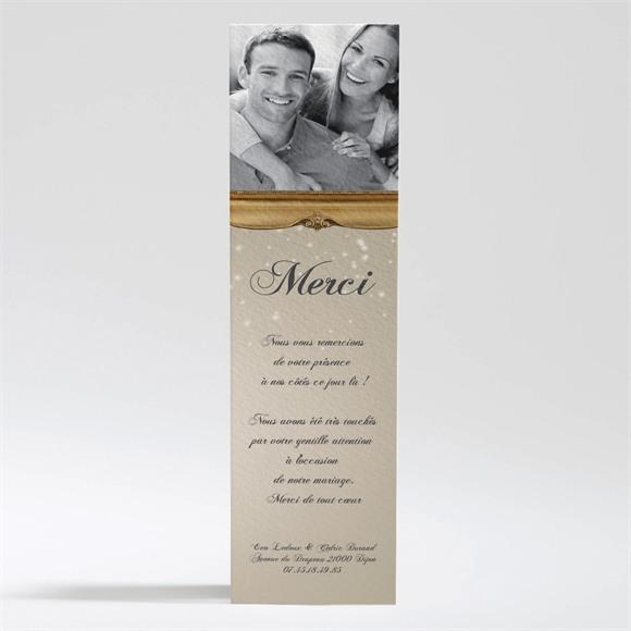 Remerciement mariage Petit Noeud doré réf.N200184