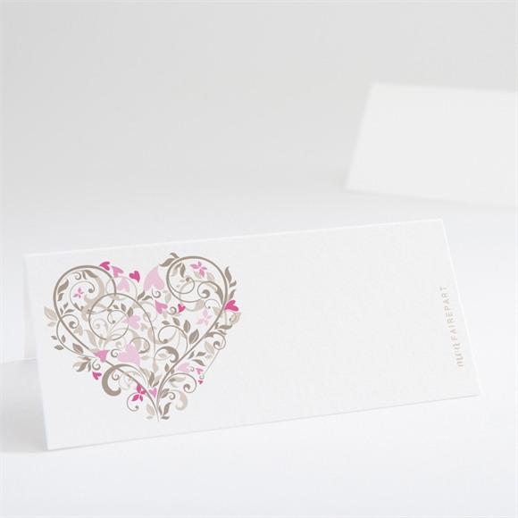 Marque-place mariage Coeur arabesque réf.N440141