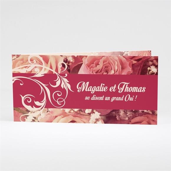 Faire-part mariage Fleurs romantiques réf.N43120