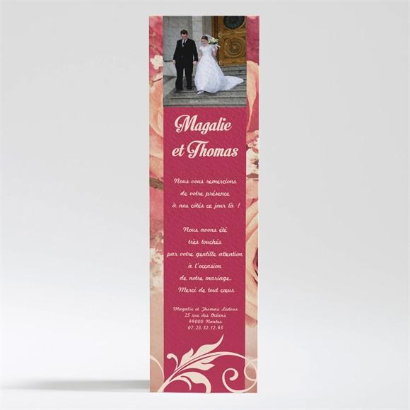Remerciement mariage Fleurs romantiques réf.N200190