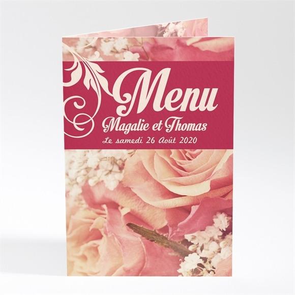 Menu mariage Fleurs romantiques réf.N401179