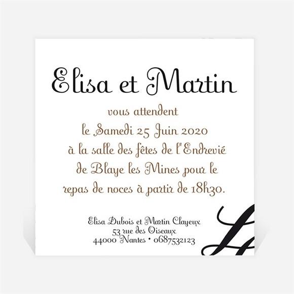 Carton d'invitation mariage Enfin le Jour J est arrivé ! réf.N300117