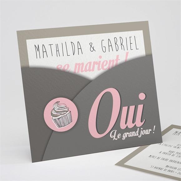 Faire-part mariage Classique recto verso réf.N31144