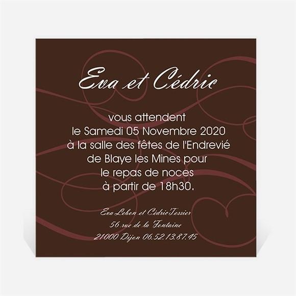 Carton d'invitation mariage Symboles d'Amour réf.N300127