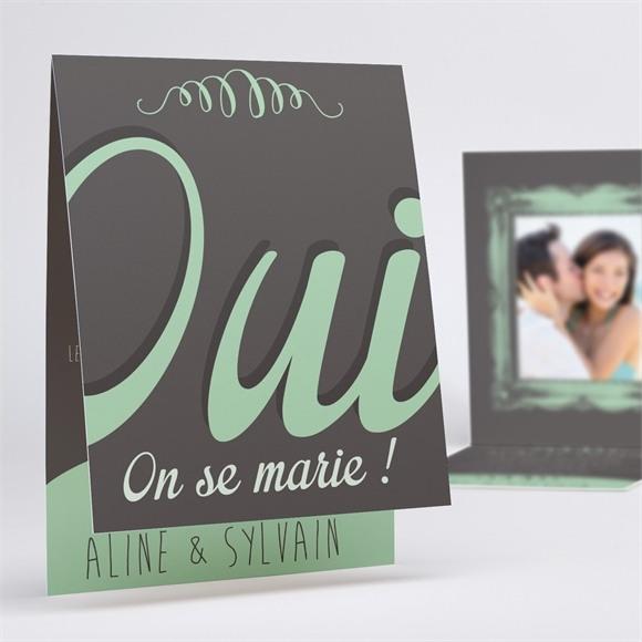 Faire-part mariage Oui avec photo! réf.N50130