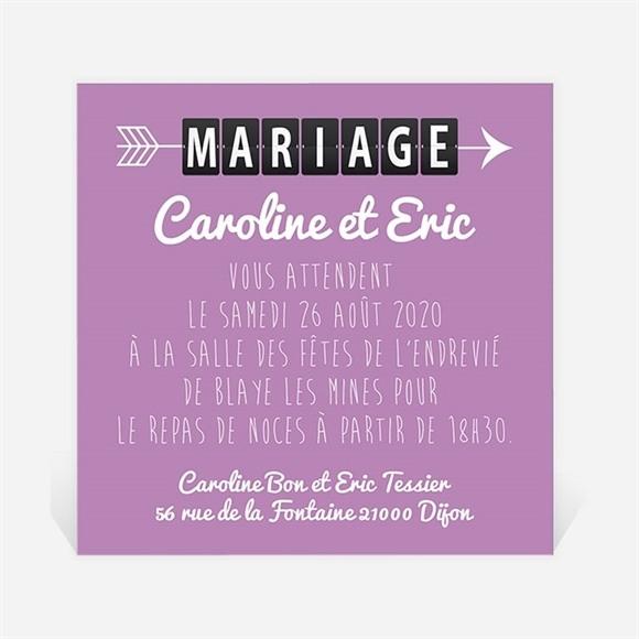 Carton d'invitation mariage Destination Mariage réf.N300132