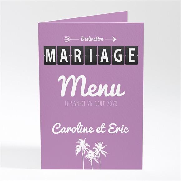 Menu mariage Destination Mariage réf.N401192