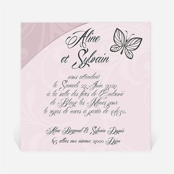 Carton d'invitation mariage Douceur et romantisme réf.N300129