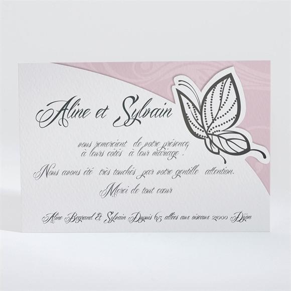 Remerciement mariage Douceur et romantisme réf.N11014
