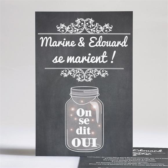 Faire-part mariage Belle ardoise mariage réf.N24130