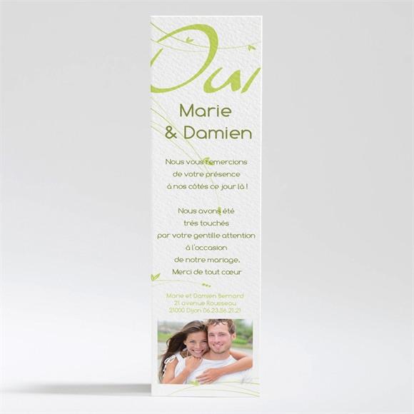 Remerciement mariage Moderne et printanier réf.N200189