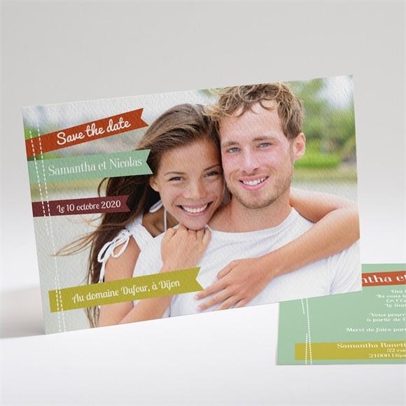 Faire-part mariage Fantaisie et joie d'annoncer ! réf.N14116