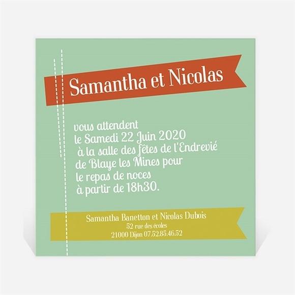 Carton d'invitation mariage Fantaisie et joie d'annoncer ! réf.N300125