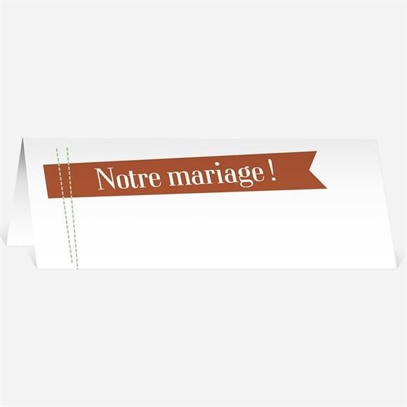 Marque-place mariage Fantaisie et joie d'annoncer ! réf.N440150