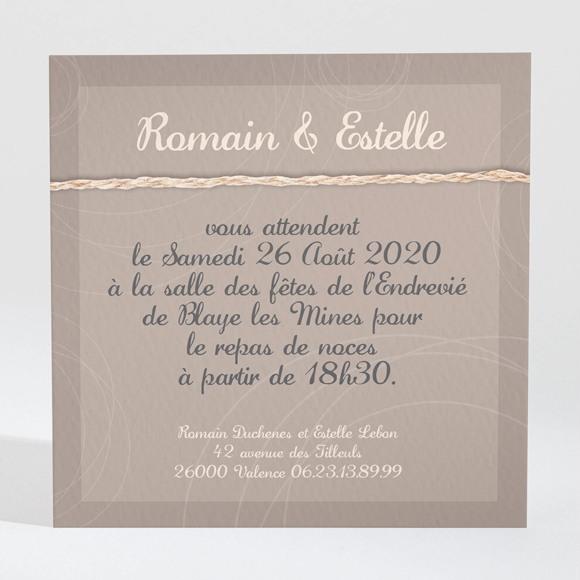 Carton d'invitation mariage le Duo réf.N300126