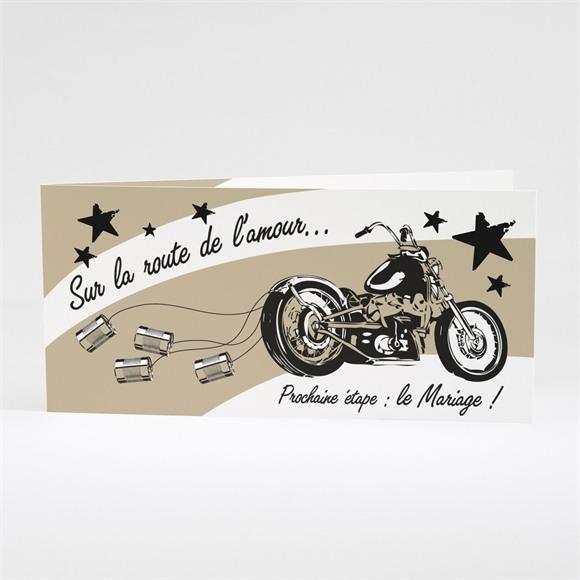 Faire-part mariage Moto vintage réf.N43123