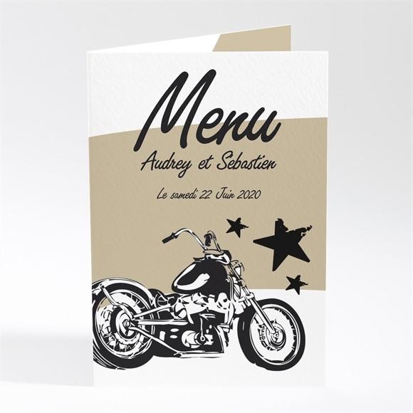 Menu mariage Moto vintage réf.N401200