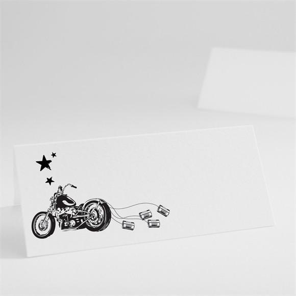 Marque-place mariage Moto vintage réf.N440163