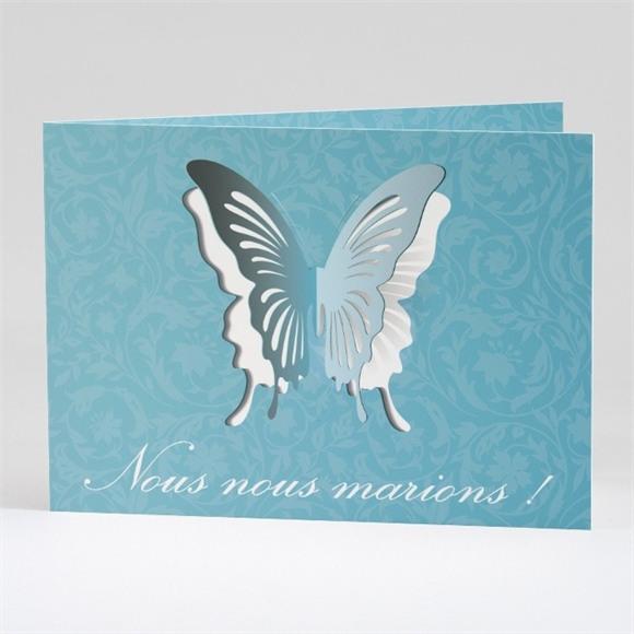 Faire-part mariage Le Papillon bleu réf.N42117