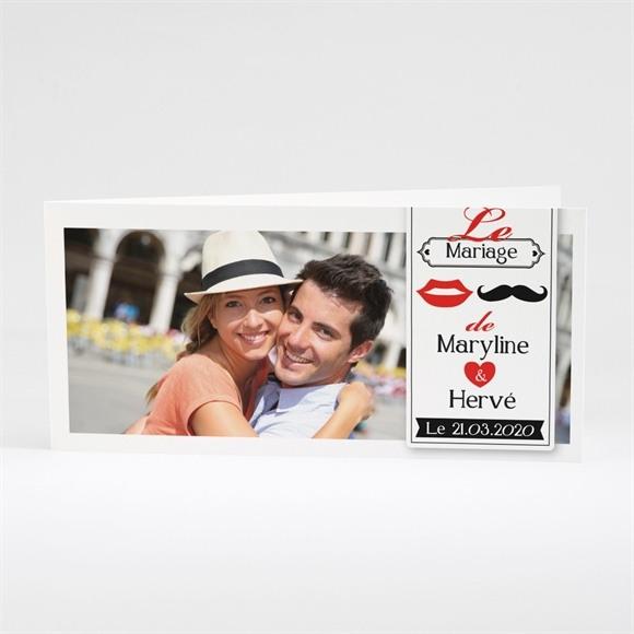 Faire-part mariage Humouristique tendance photo réf.N43124