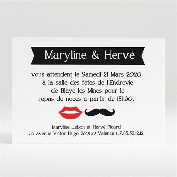 Carton d'invitation mariage Humouristique tendance photo réf.N120186