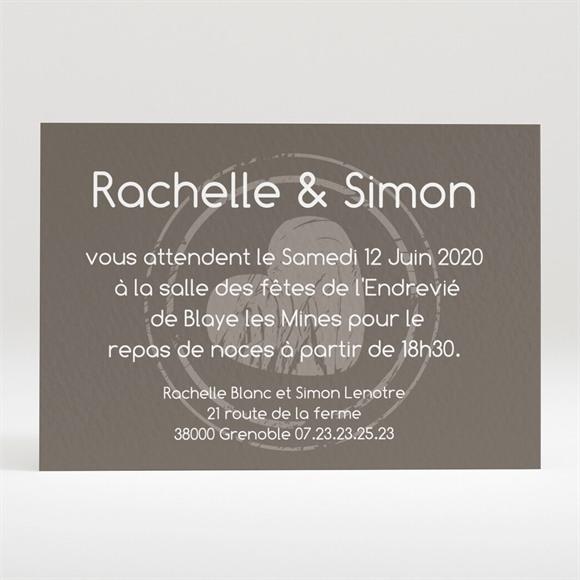 Carton d'invitation mariage annonce originale et vintage réf.N120188