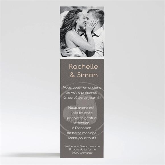Remerciement mariage annonce originale et vintage réf.N200214