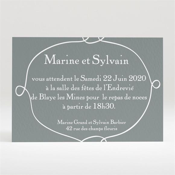 Carton d'invitation mariage Toi + Moi réf.N120190