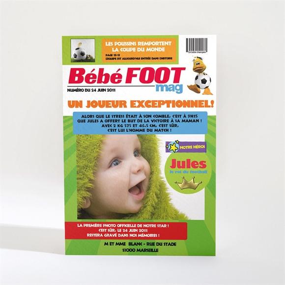 Faire-part naissance Bébé foot réf.N21014