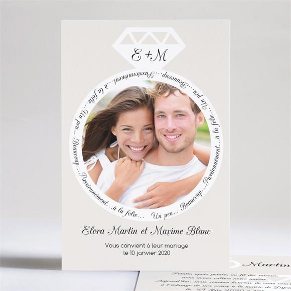 Faire-part mariage Notre Diamant réf.N24132