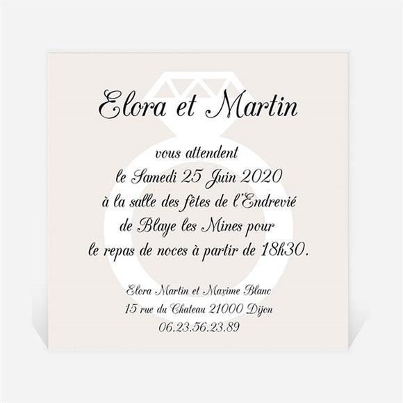 Carton d'invitation mariage Notre Diamant réf.N300137