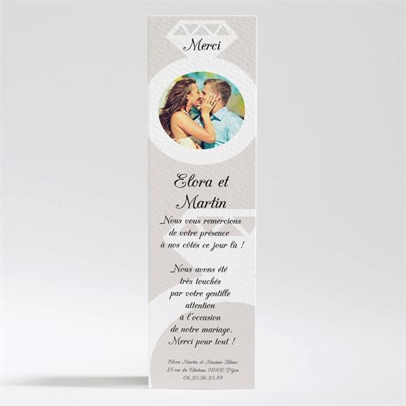 Remerciement mariage Notre Diamant réf.N200207