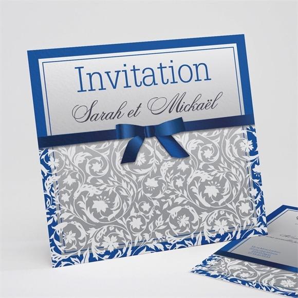 Faire-part mariage Motifs floraux et rubans chic réf.N31143