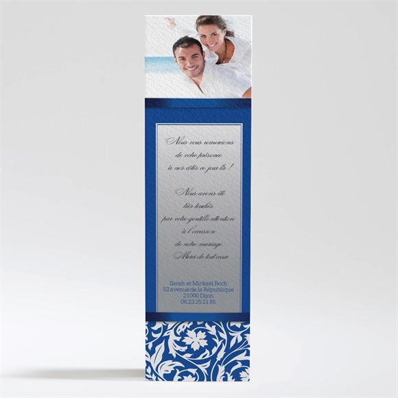 Remerciement mariage Motifs floraux et rubans chic réf.N200191