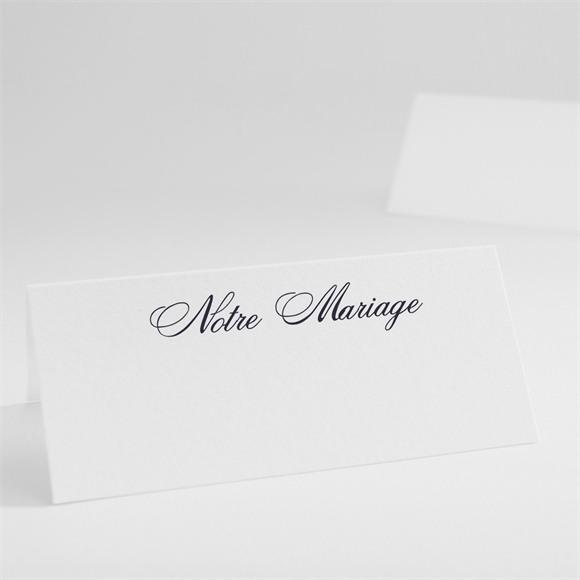Marque-place mariage Motifs floraux et rubans chic réf.N440145
