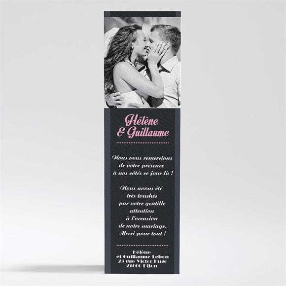 Remerciement mariage Programme vintage et ardoise réf.N200212