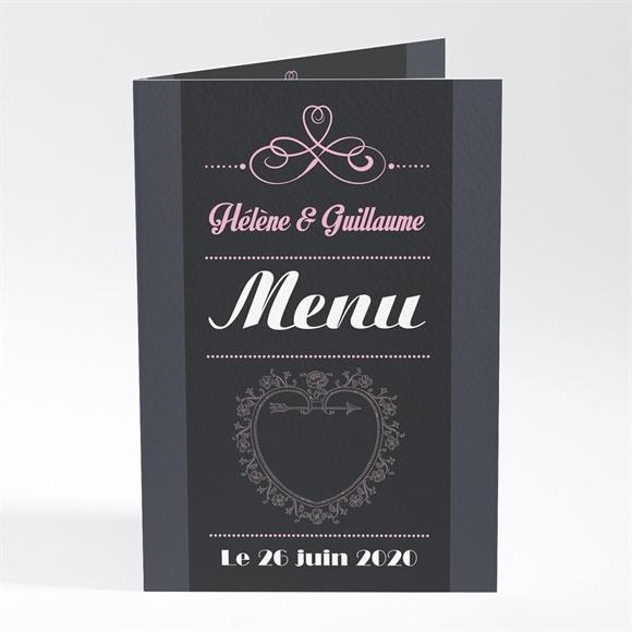 Menu mariage Programme vintage et ardoise réf.N401204