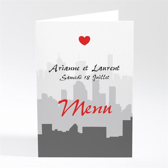 Menu mariage Romantisme à moto réf.N401202