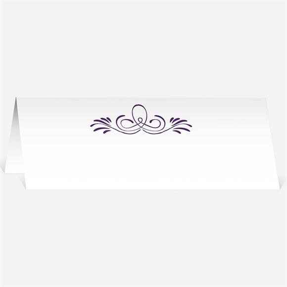 Marque-place mariage Médaillon violet et photos réf.N440173