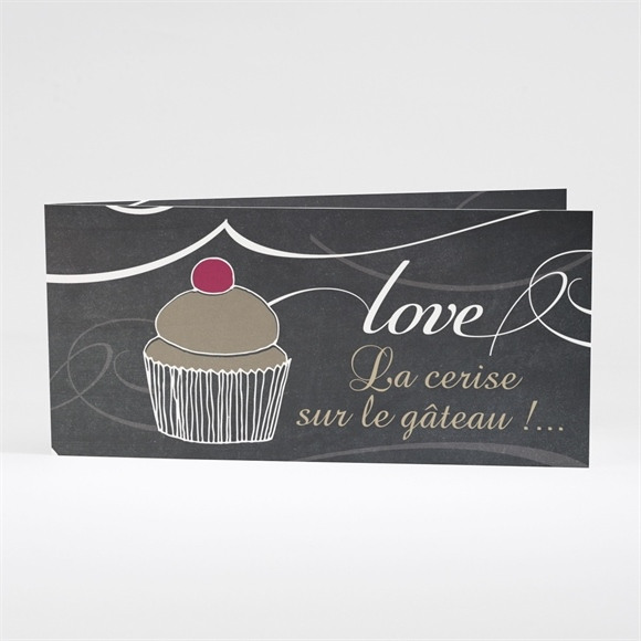 Faire-part mariage Love cake réf.N43125