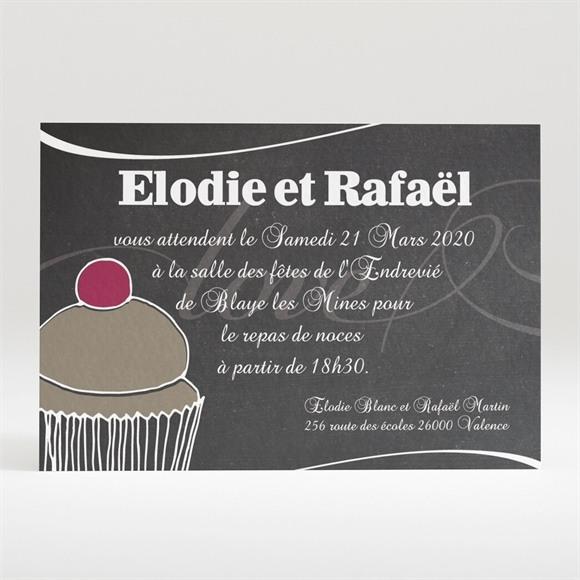 Carton d'invitation mariage Love cake réf.N120189
