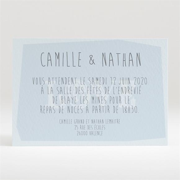 Carton d'invitation mariage Associez vous à notre Bonheur réf.N120187