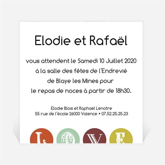 Carton d'invitation mariage réf. N300143 réf.N300143