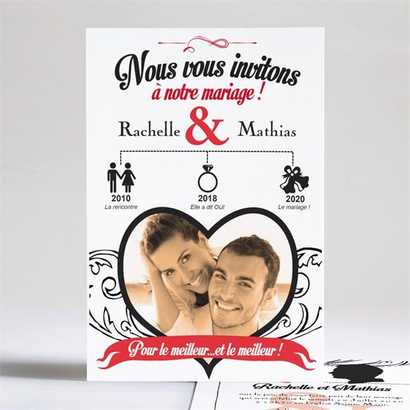 Faire-part mariage Pour le meilleur réf.N24134
