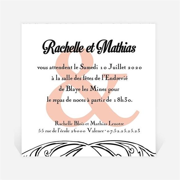 Carton d'invitation mariage Pour le meilleur réf.N300145