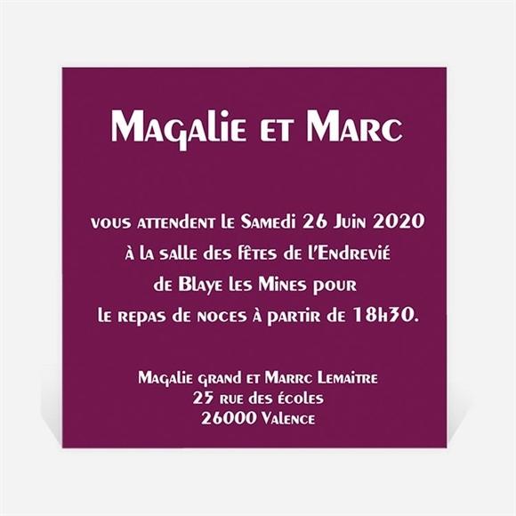 Carton d'invitation mariage Mosaïque de nos photos réf.N300142