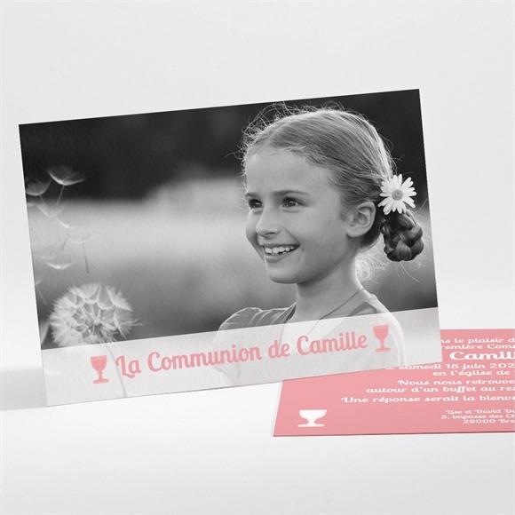 Faire-part communion Beauté naturelle réf.N11133