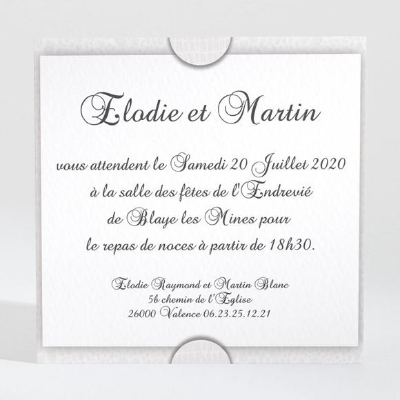 Carton d'invitation mariage Trompe l'oeil réf.N300146