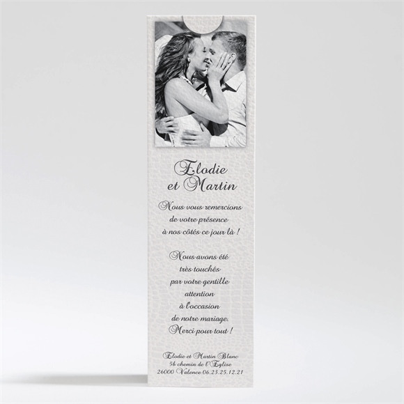 Remerciement mariage Trompe l'oeil réf.N200221
